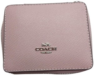 Coach Coach Pink Pebbled Leather Jewelry Case