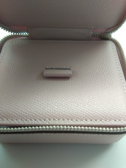 Coach Coach Pink Pebbled Leather Jewelry Case Image 2