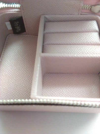 Coach Coach Pink Pebbled Leather Jewelry Case Image 3