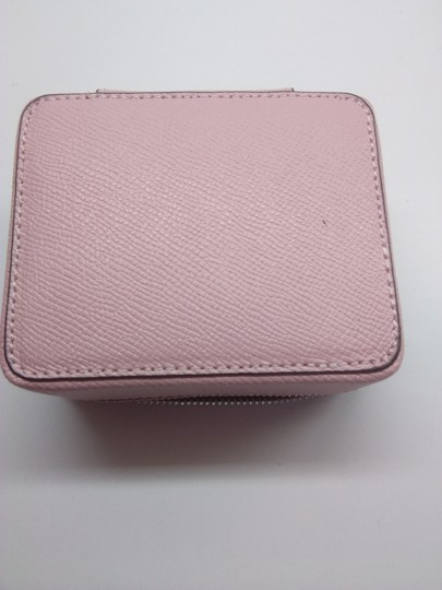 Coach Coach Pink Pebbled Leather Jewelry Case Image 4