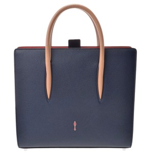 Christian Louboutin Paloma Palomar Calfskin Leather Tote in Blue Red Black