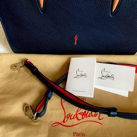 Christian Louboutin Paloma Palomar Calfskin Leather Tote in Blue Red Black Image 10