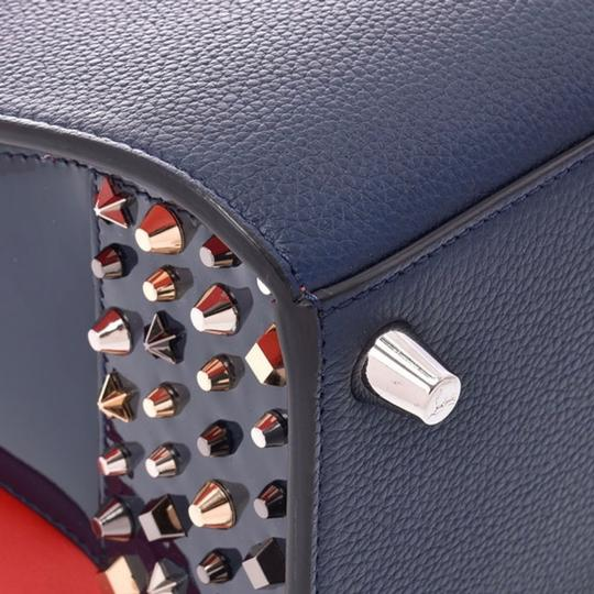 Christian Louboutin Paloma Palomar Calfskin Leather Tote in Blue Red Black Image 5