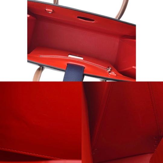 Christian Louboutin Paloma Palomar Calfskin Leather Tote in Blue Red Black Image 7