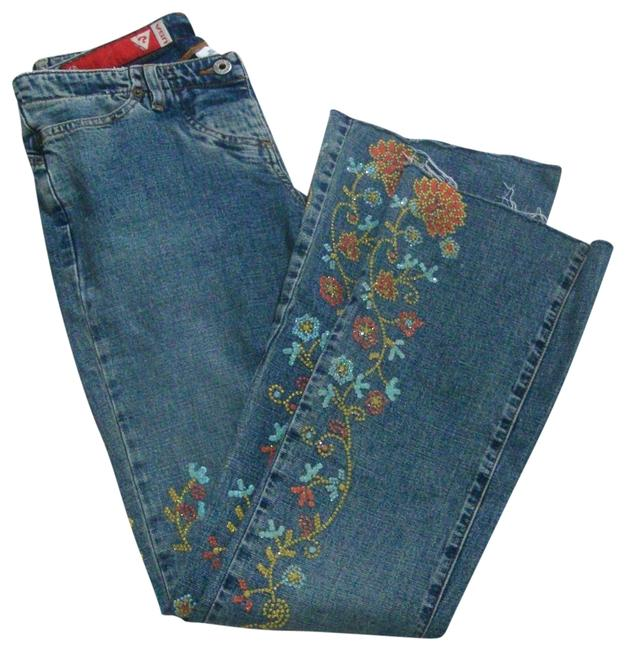 Preload https://img-static.tradesy.com/item/25463038/guess-blue-medium-wash-crystal-embellished-distressed-low-rise-stretchy-flare-leg-jeans-size-28-4-s-0-1-650-650.jpg