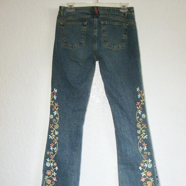 Guess Crystals Low Rise Stretchy Button Fly Flare Leg Jeans-Medium Wash Image 3