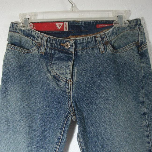 Guess Crystals Low Rise Stretchy Button Fly Flare Leg Jeans-Medium Wash Image 4