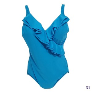 INC International Concepts INC Ruffle Front One Piece Bathing Suit Size 16
