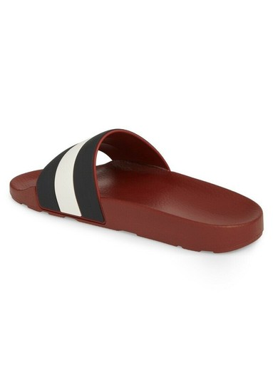 Bally Red Sleter Striped Rubber Logo Sandal Slides D 12 Us 45 Italy Shoes Image 6
