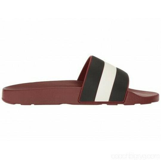 Bally Red Sleter Striped Rubber Logo Sandal Slides D 12 Us 45 Italy Shoes Image 7