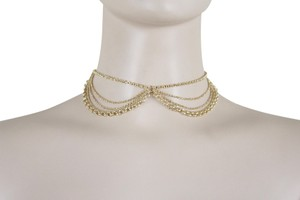 Other Women Choker Gold Metal Chain Multi Strands Necklace Fashion Jewelry