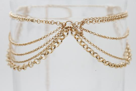 Other Women Choker Gold Metal Chain Multi Strands Necklace Fashion Jewelry Image 8