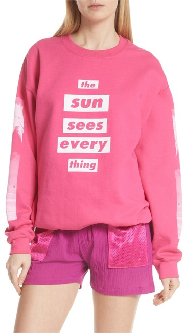 Preload https://img-static.tradesy.com/item/25463234/heliconia-pink-and-white-sun-sees-everything-sweatshirt-activewear-top-size-4-s-0-1-650-650.jpg