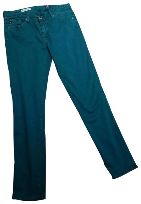 AG Adriano Goldschmied Green Stevie Ankle Straight Leg Jeans Size 28 (4, S) AG Adriano Goldschmied Green Stevie Ankle Straight Leg Jeans Size 28 (4, S) Image 1