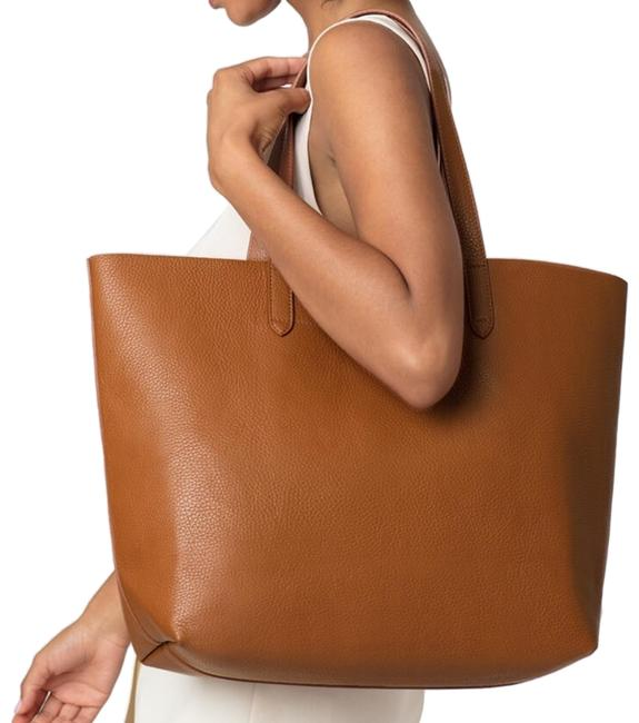 Item - Classic Structured Caramel/Blush Leather Tote