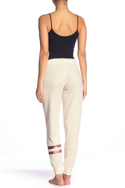 P.J. Salvage Knit Soft Elastic Rayon Relaxed Pants Oatmeal Image 1
