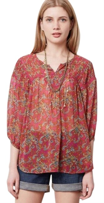 Preload https://img-static.tradesy.com/item/25463316/anthropologie-peasant-silk-blouse-size-4-s-0-2-650-650.jpg