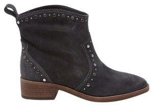 Dolce Vita Suede Studded Ankle Western Gray Boots