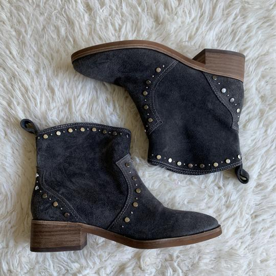 Dolce Vita Suede Studded Ankle Western Gray Boots Image 4