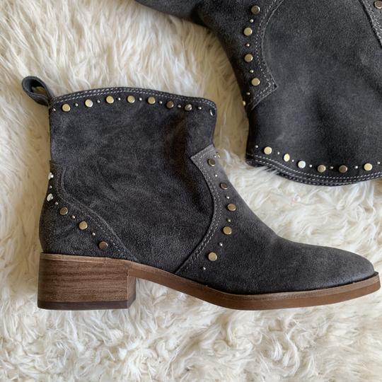 Dolce Vita Suede Studded Ankle Western Gray Boots Image 5