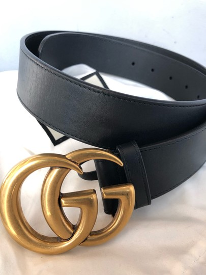 Gucci Leather belt with Double G buckle size 80 Image 3