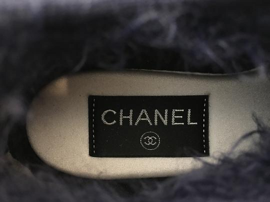 Chanel Classic Metallic Espadrille Flats Navy Athletic Image 8
