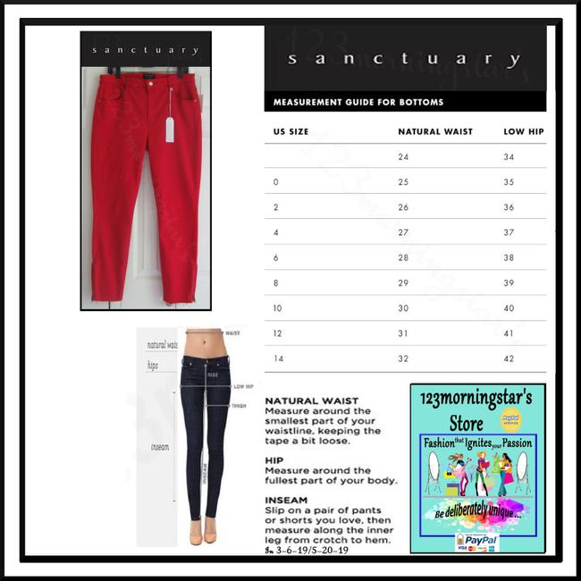 Sanctuary Standard Rise Tonal Stitching Ankle Leg Silhouette Zippered Cuffs Skinny Jeans Image 11