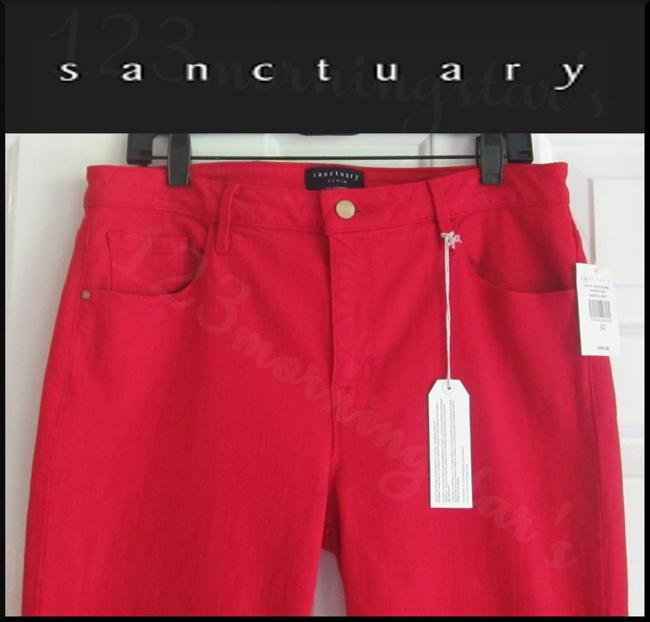 Sanctuary Standard Rise Tonal Stitching Ankle Leg Silhouette Zippered Cuffs Skinny Jeans Image 3