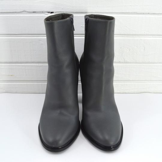 Vince #leather #italian #work Office #slim #simple GREY/ BLACK Boots Image 1