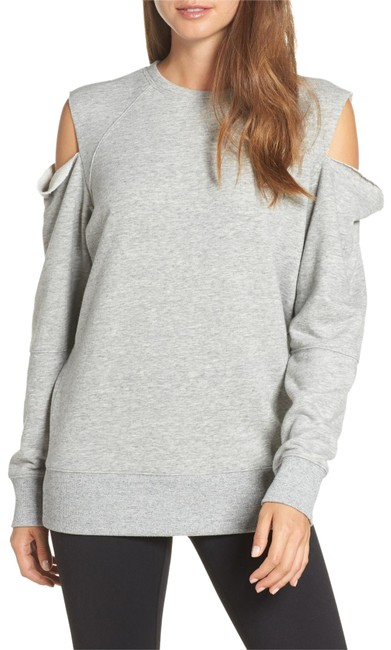 Item - Gray Heather Tear It Up Cold-shoulder Tunic Activewear Top Size 0 (XS)