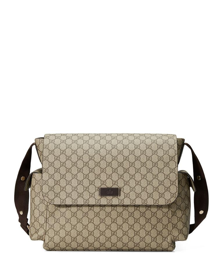 c7483ba6e Gucci New Changing Pad Beige Supreme Canvas Diaper Bag - Tradesy