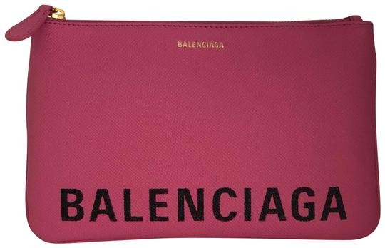 Preload https://img-static.tradesy.com/item/25463985/balenciaga-new-ville-medium-pink-leather-clutch-0-1-540-540.jpg