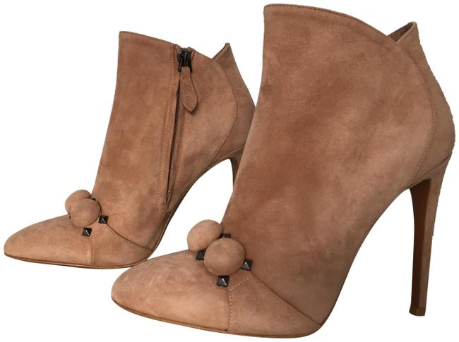 Item - Tan Classic Suede Leather Bombe Bubble Zip-up Ankle Boots/Booties Size EU 36.5 (Approx. US 6.5) Regular (M, B)
