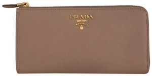Prada PRADA Saffiano Large Leather ZIp Wallet