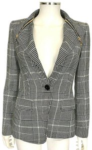 c99e71fff8ef Escada Black White Blue Houndstooth Blazer