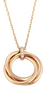 Cartier Trinity Diamond 18k Rose Gold 3 Ring Pendant