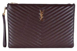 Saint Laurent Ysl Purse Belle De Jour Purple Clutch