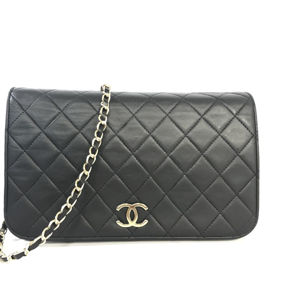 1a0b52876af7 Chanel Wallet on Chain Classic Vintage Quilted Matelasse Full Flap ...