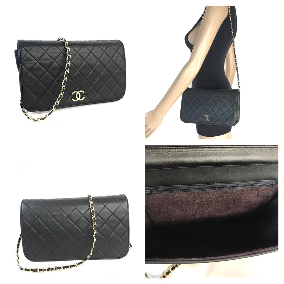 77fe3f52adfc4a Chanel Wallet on Chain Classic Vintage Quilted Matelasse Full Flap ...