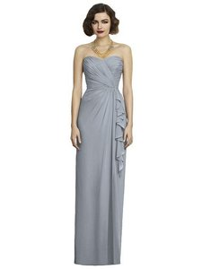 Dessy Blush Chiffon 2895 Formal Bridesmaid/Mob Dress Size 6 (S)