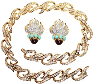 Elizabeth Taylor Eternal Flame Earrings and Necklace Set by Elizabeth Taylor