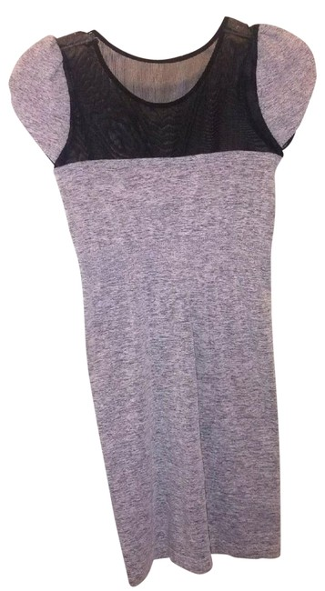 Item - Gray Sweetheart Illusion Bodycon Mini New Short Night Out Dress Size 10 (M)