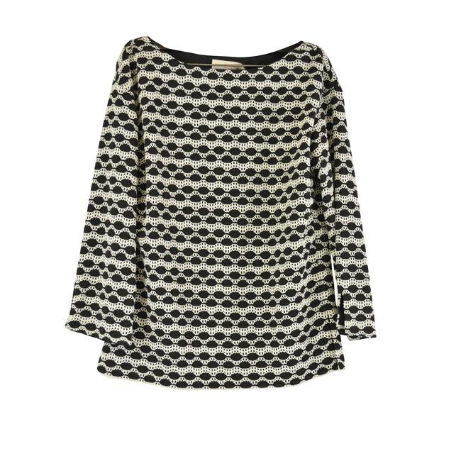 Preload https://img-static.tradesy.com/item/25464979/tory-burch-black-ivory-kendall-new-abstract-blouse-size-0-xs-0-0-650-650.jpg