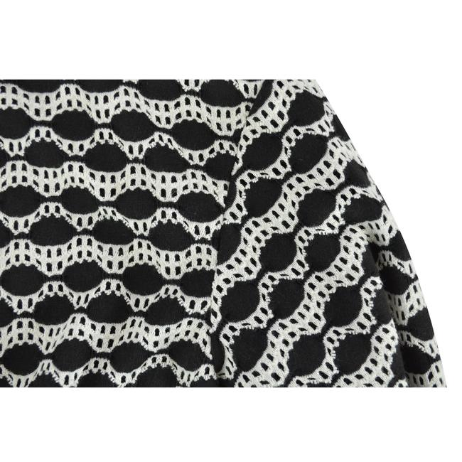 Tory Burch Kendall Abstract Top Black Ivory Image 2