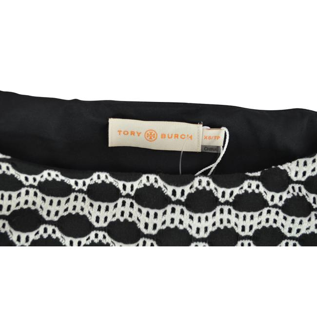 Tory Burch Kendall Abstract Top Black Ivory Image 3