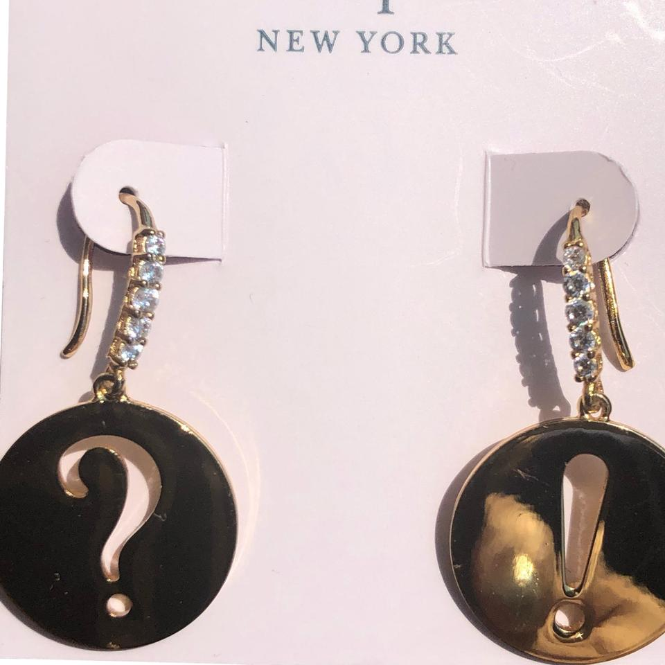 53e81a11133 Kate Spade Kate Spade Question mark exclamation point drop earrings Image 0  ...