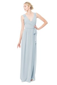 Joanna August Tangled Up In Blue (Navy) Chiffon Newbury Long Modern Bridesmaid/Mob Dress Size 4 (S)