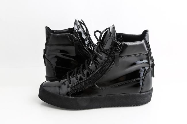 Item - Black Patent Leather London High Top Sneakers Shoes