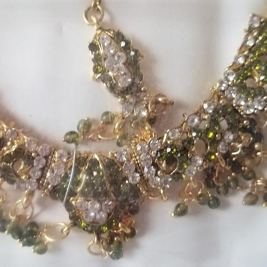 Unknown Gorgeous Indian Costume Jewelry Set Bollywood NEW Image 1