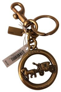 Coach Coach Antique Gold Horse and Carriage Key Chain
